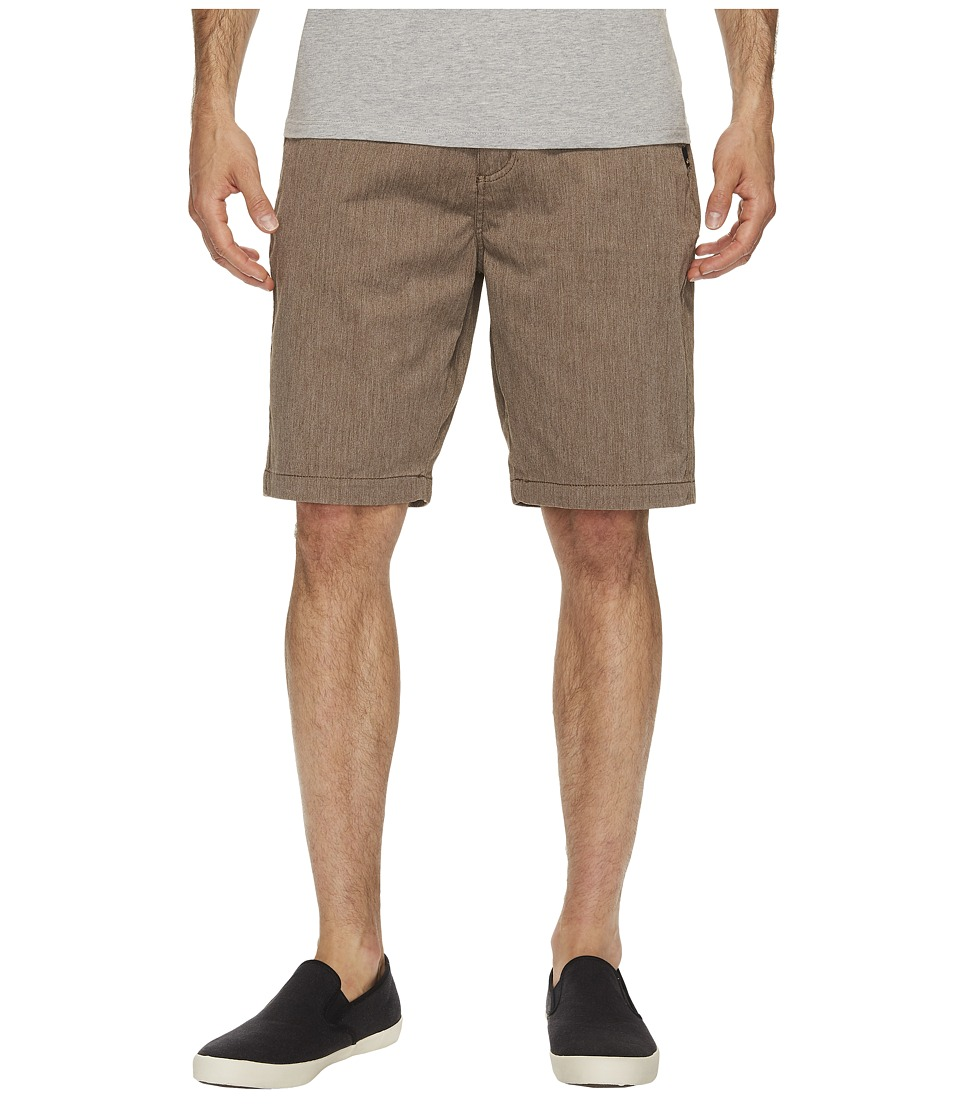 Quiksilver Everyday Union Stretch Chino Shorts (Chocolate Brown Heather) Men