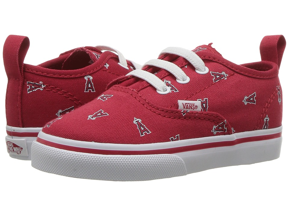 Vans Kids Authentic V Lace x MLB (Toddler) ((MLB) Anaheim Angels/Red) Kids Shoes
