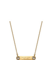 Michael Kors - Tone and Pave Logo Grommet Pendant Necklace