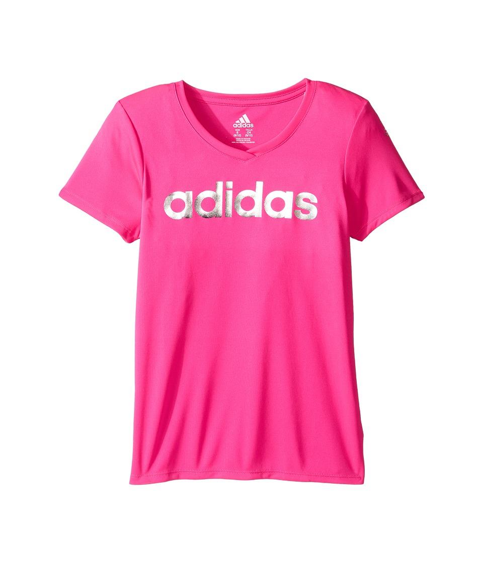 adidas Kids Graphic Tee (Big Kids) (Neon Pink) Girl