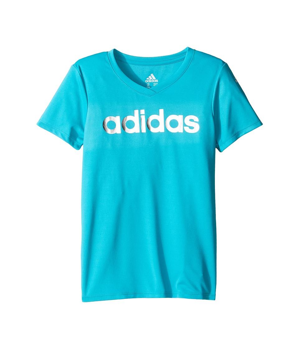 adidas Kids Graphic Tee (Big Kids) (Turquoise) Girl