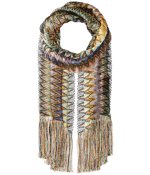 Missoni Scarf - Multi Grey/Lavender