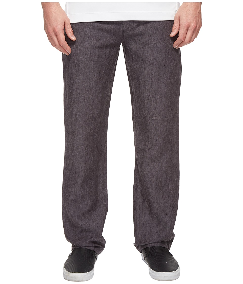 Perry Ellis - Drawstring Linen Pants (Slate 1) Mens Casual Pants