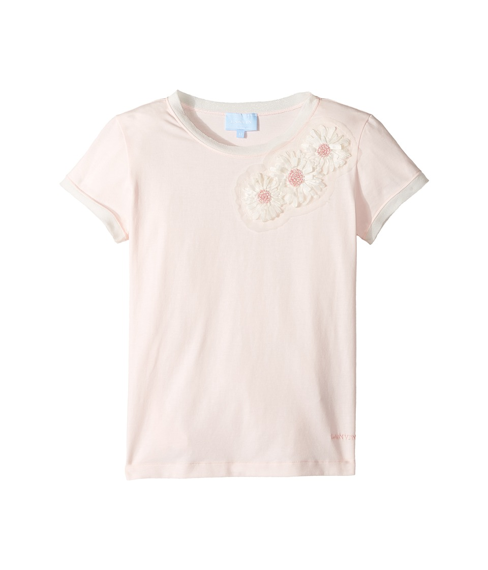 Lanvin Kids - Short Sleeve T-Shirt w/ Beaded Daisy Design On Front