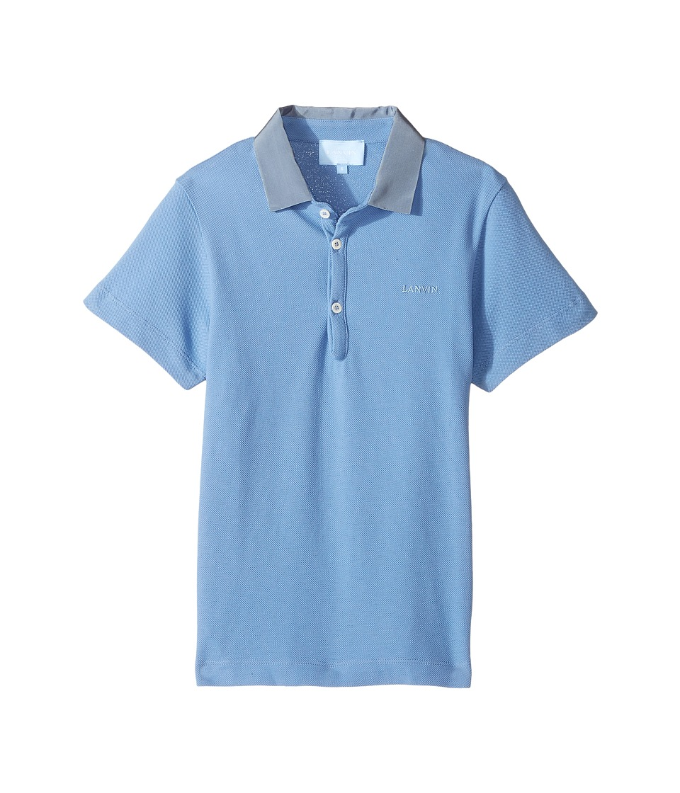 Lanvin Kids - Short Sleeve Polo Shirt w/ Contrast Collar Logo Detail