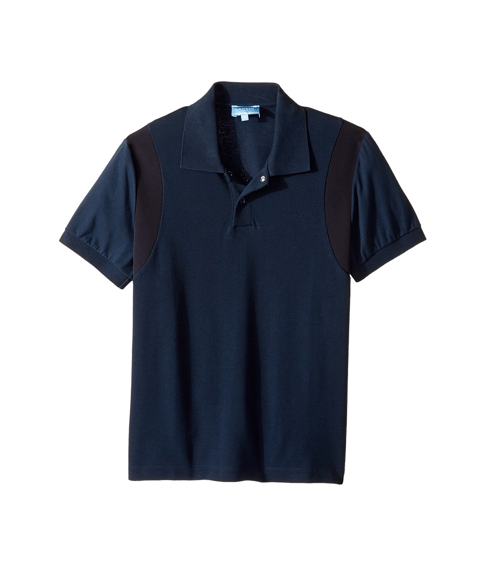 Lanvin Kids - Short Sleeve Polo w/ Logo Detail On Front