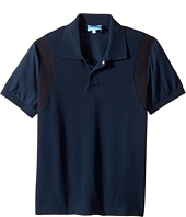 Lanvin Kids - Short Sleeve Polo w/ Logo Detail On Front (Big Kids)