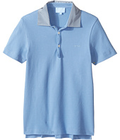 Lanvin Kids - Short Sleeve Polo Shirt w/ Contrast Collar & Logo Detail (Big Kids)