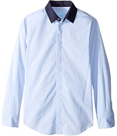 Lanvin Kids - Long Sleeve Button Down Shirt w/ Contrast Collar (Big Kids)