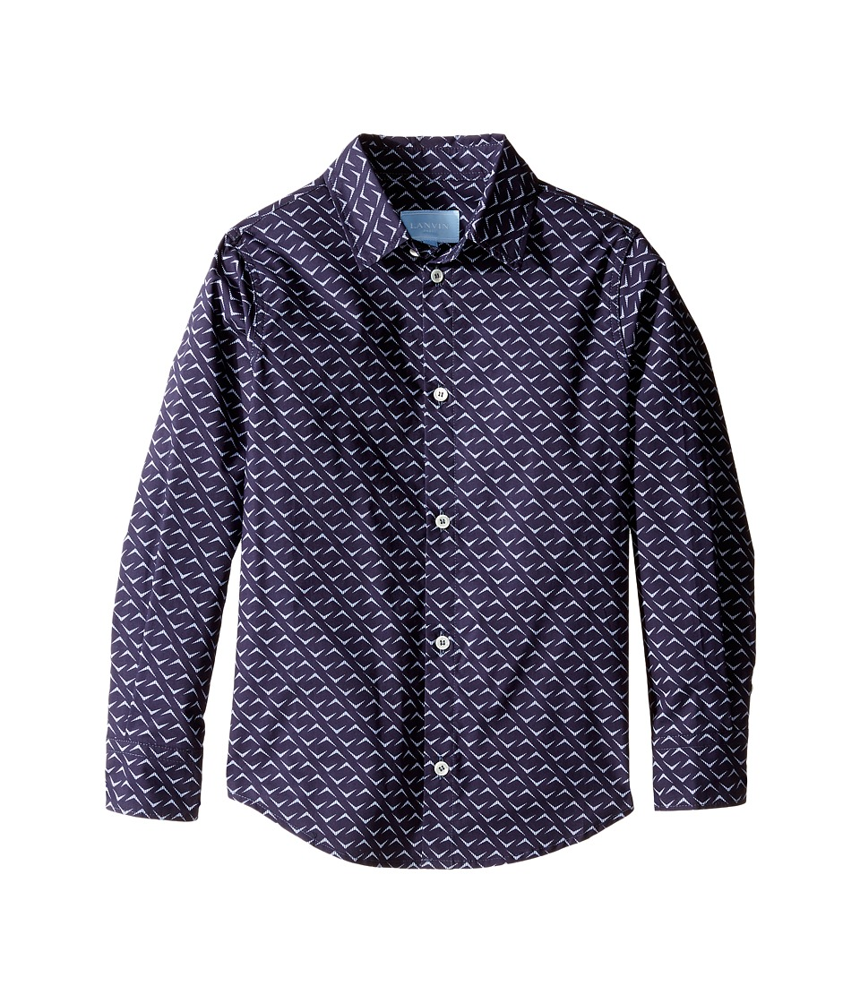 Lanvin Kids - All Over Print Long Sleeve Button Up Shirt