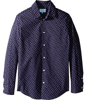 Lanvin Kids - All Over Print Long Sleeve Button Up Shirt (Big Kids)