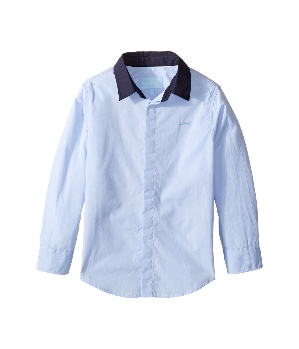 Lanvin Kids - Long Sleeve Button Down Shirt w/ Contrast Collar