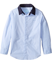 Lanvin Kids - Long Sleeve Button Down Shirt w/ Contrast Collar (Toddler/Little Kids)