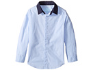 Lanvin Kids - Long Sleeve Button Down Shirt w/ Contrast Collar (Toddler/Little Kids)