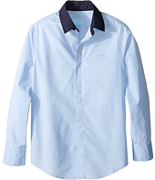 Lanvin Kids - Long Sleeve Button Down Shirt w/ Contrast Collar (Little Kids/Big Kids)