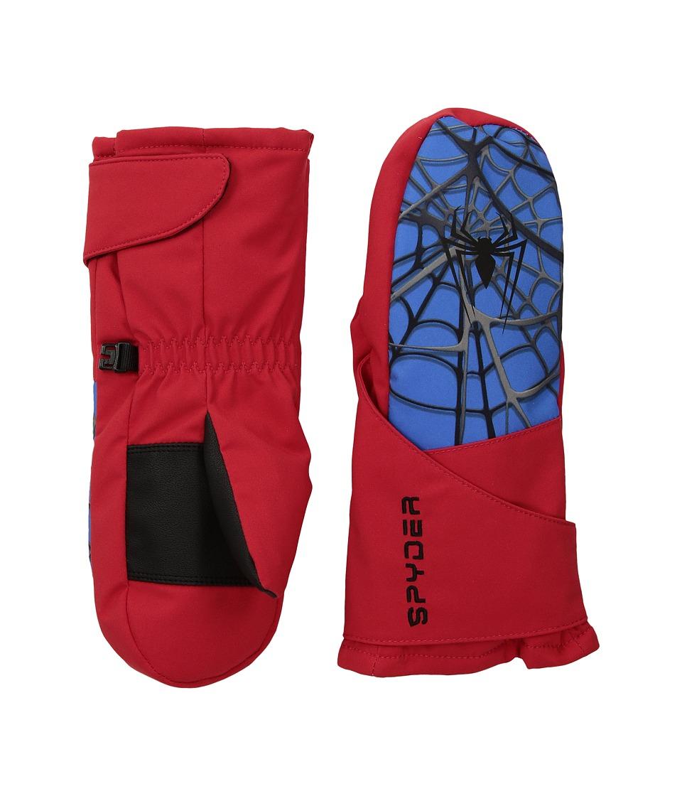 Spyder - Marvel Overweb Mini Mittens (Little Kids/Big Kids) (Red/Spiderman) Extreme Cold Weather Gloves