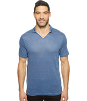 Perry Ellis - Solid Linen Open Collar Polo Shirt
