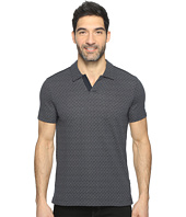 Perry Ellis - Travel Luxe Jacquard Open Collar Polo Shirt