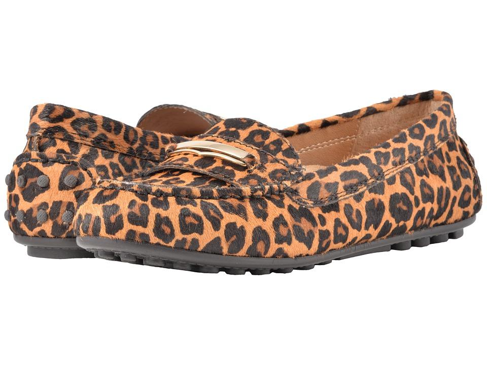 Vionic Ashby (Tan Leopard) Women's Dress Flat Shoes