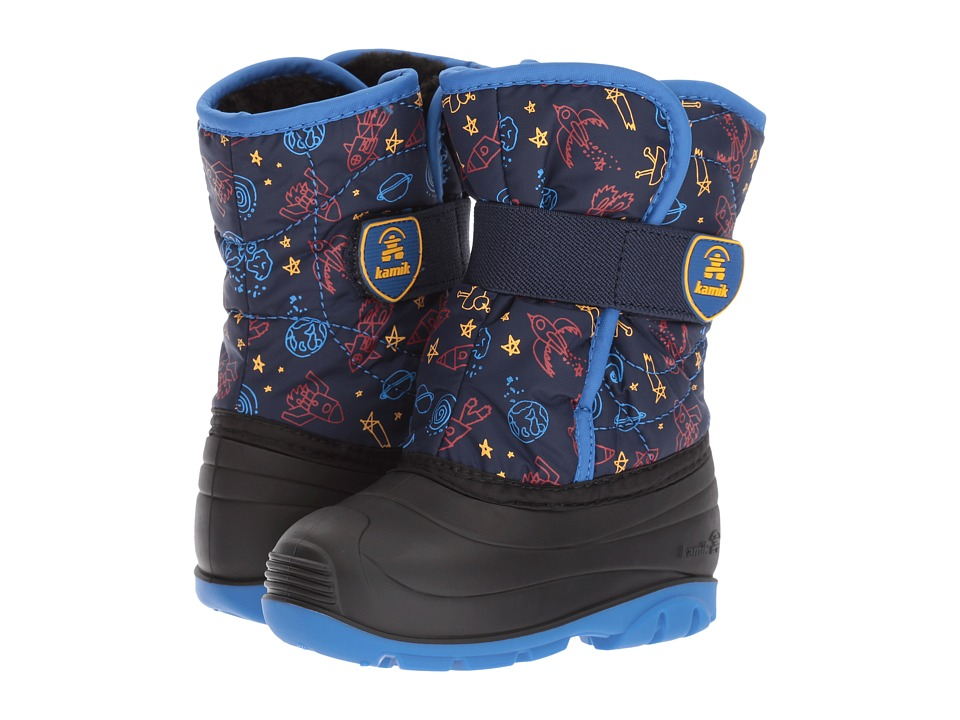 Kamik Kids Snowbug4 (Toddler) (Navy) Boy's Shoes
