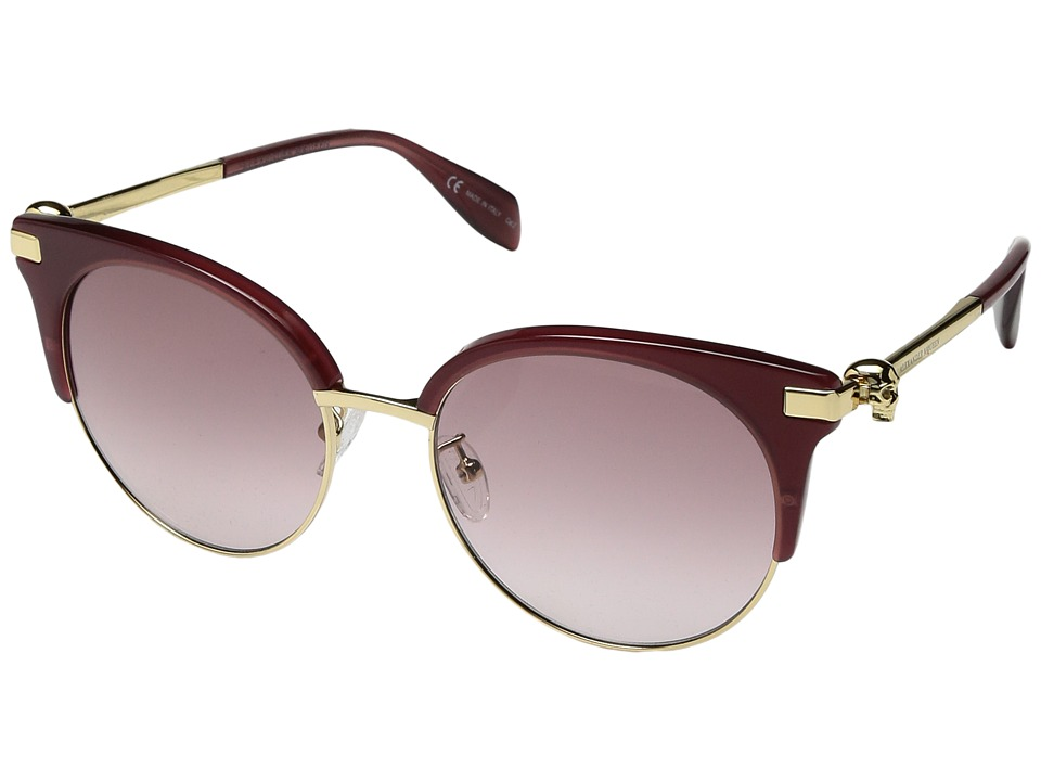 Alexander Mcqueen AM0082S (Burgundy/Gold Pink) Fashion Su...