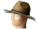 Raffia Beach Hat w/ Embroidered Artwork