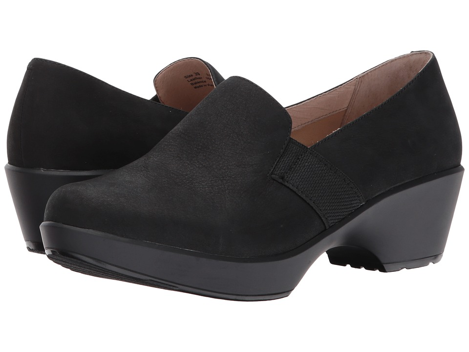 Dansko - Jessica (Black Nubuck) Women's Shoes