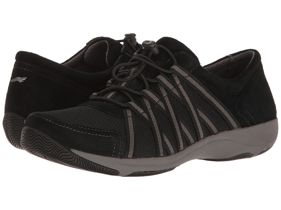 Dansko Honor (Black/Black Suede) Women's  Shoes