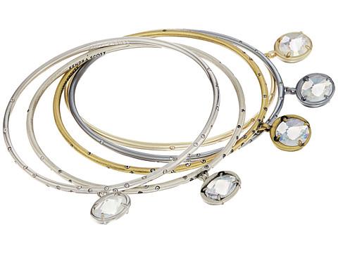 Kendra Scott Brianna Bangle Bracelet - Mixed/Clear Iridescent Glass