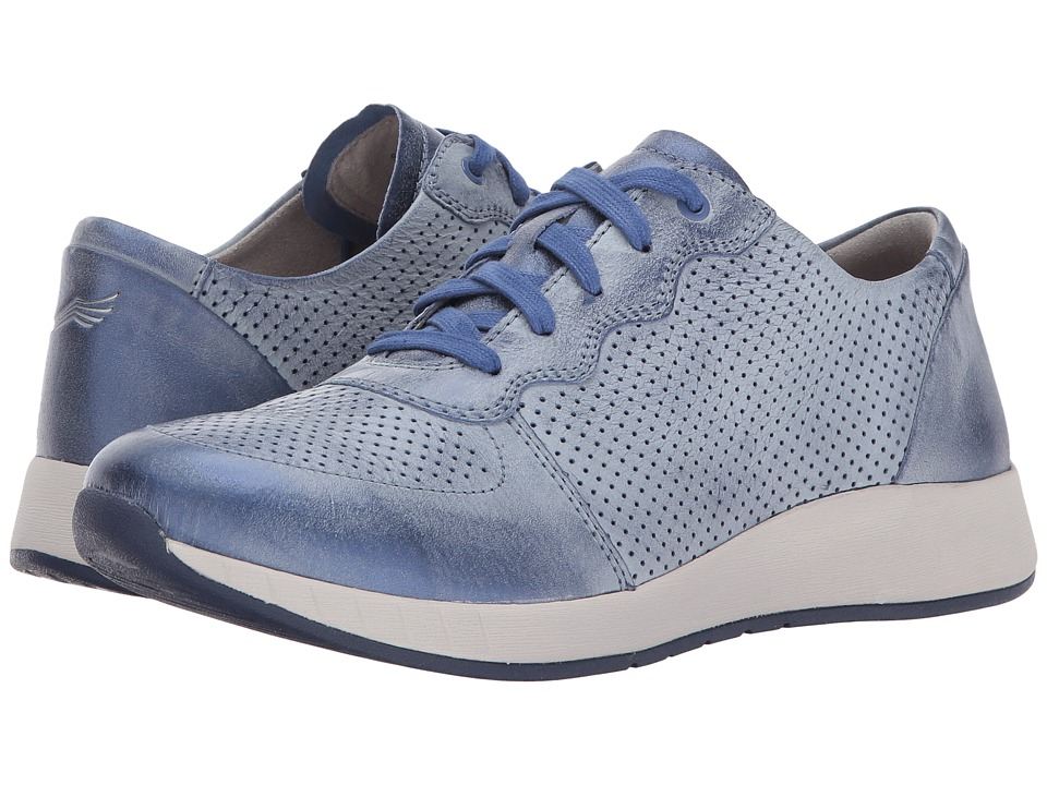 Dansko - Christina (Blue Metallic Brush-Off) Women's  Shoes