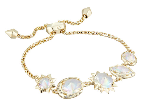 Kendra Scott Jodie Bracelet - Gold/Clear Iridescent Glass