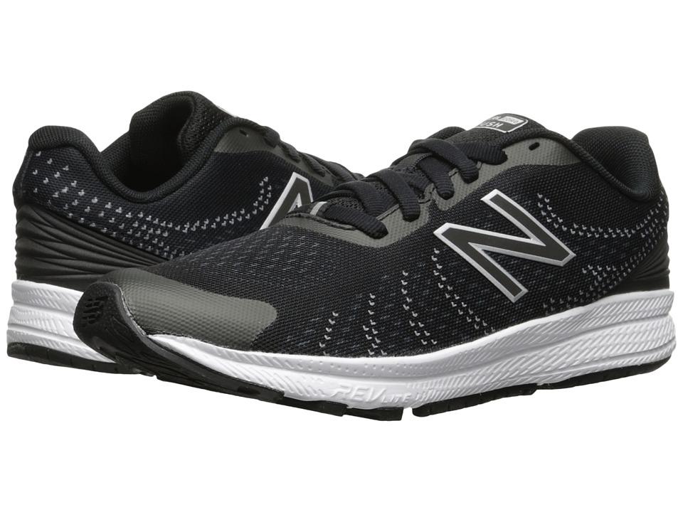 New Balance Kids Rush (Little Kid) (Black/Grey) Boys Shoes