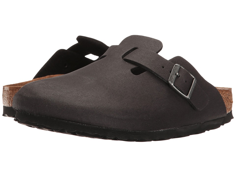 Birkenstock Boston Vegan (Anthracite Microfiber) Clog Shoes