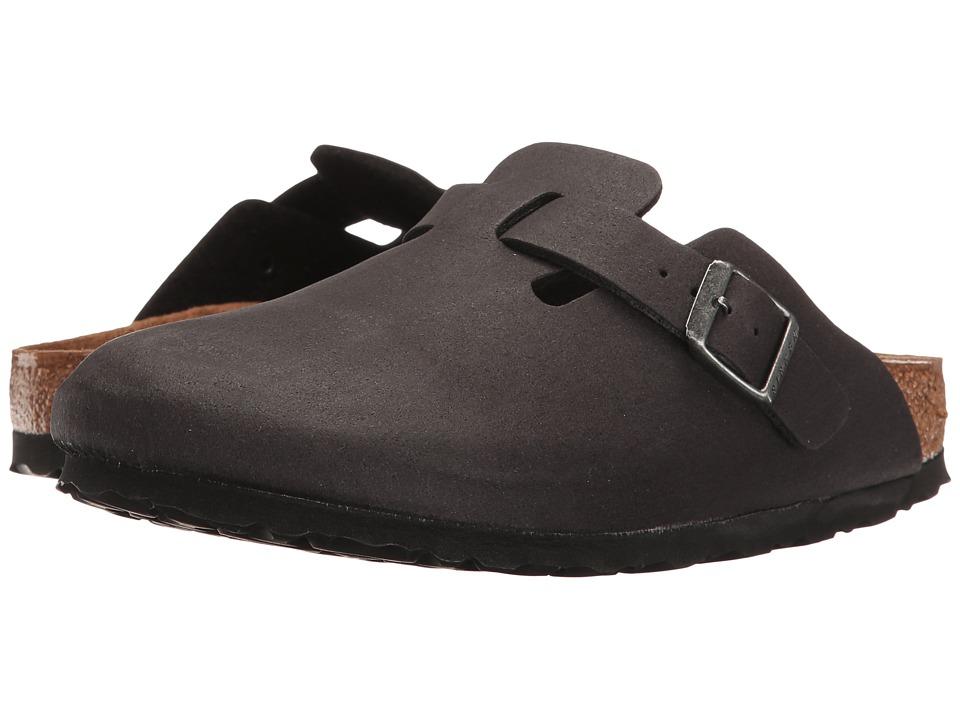 Birkenstock Boston Vegan (Anthracite Microfiber) Clog Shoes
