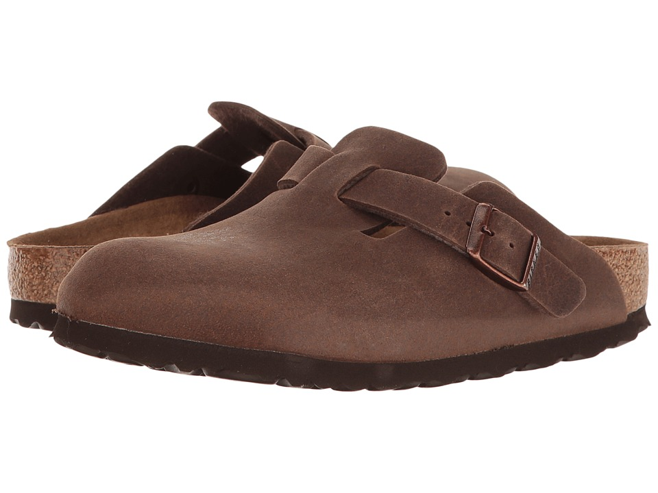 Birkenstock Boston Vegan (Cacao Microfiber) Clog Shoes