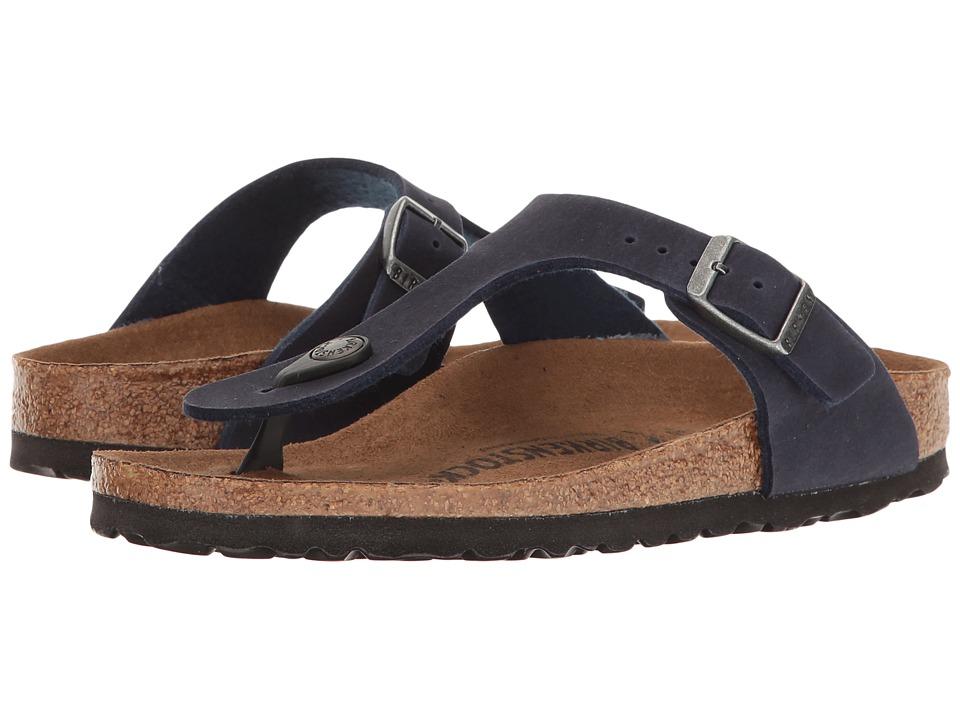 Birkenstock Gizeh Vegan (Navy Microfiber) Sandals