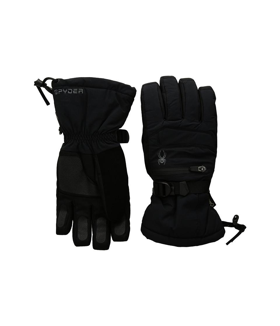 Spyder Eiger Gore-Tex(r) Ski Gloves (Black/Black) Ski Gloves