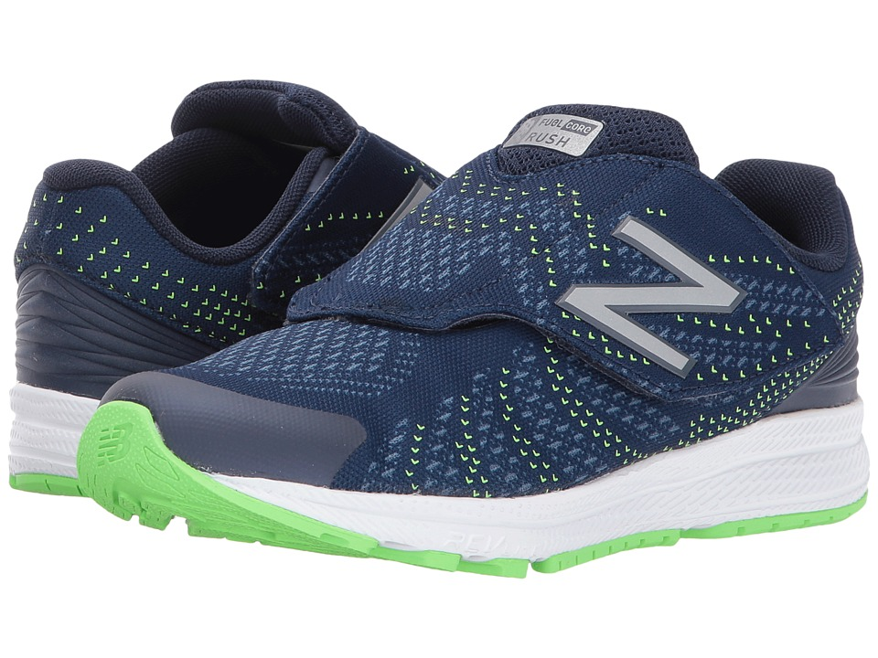 New Balance Kids Rush (Little Kid) (Navy/Navy) Boys Shoes