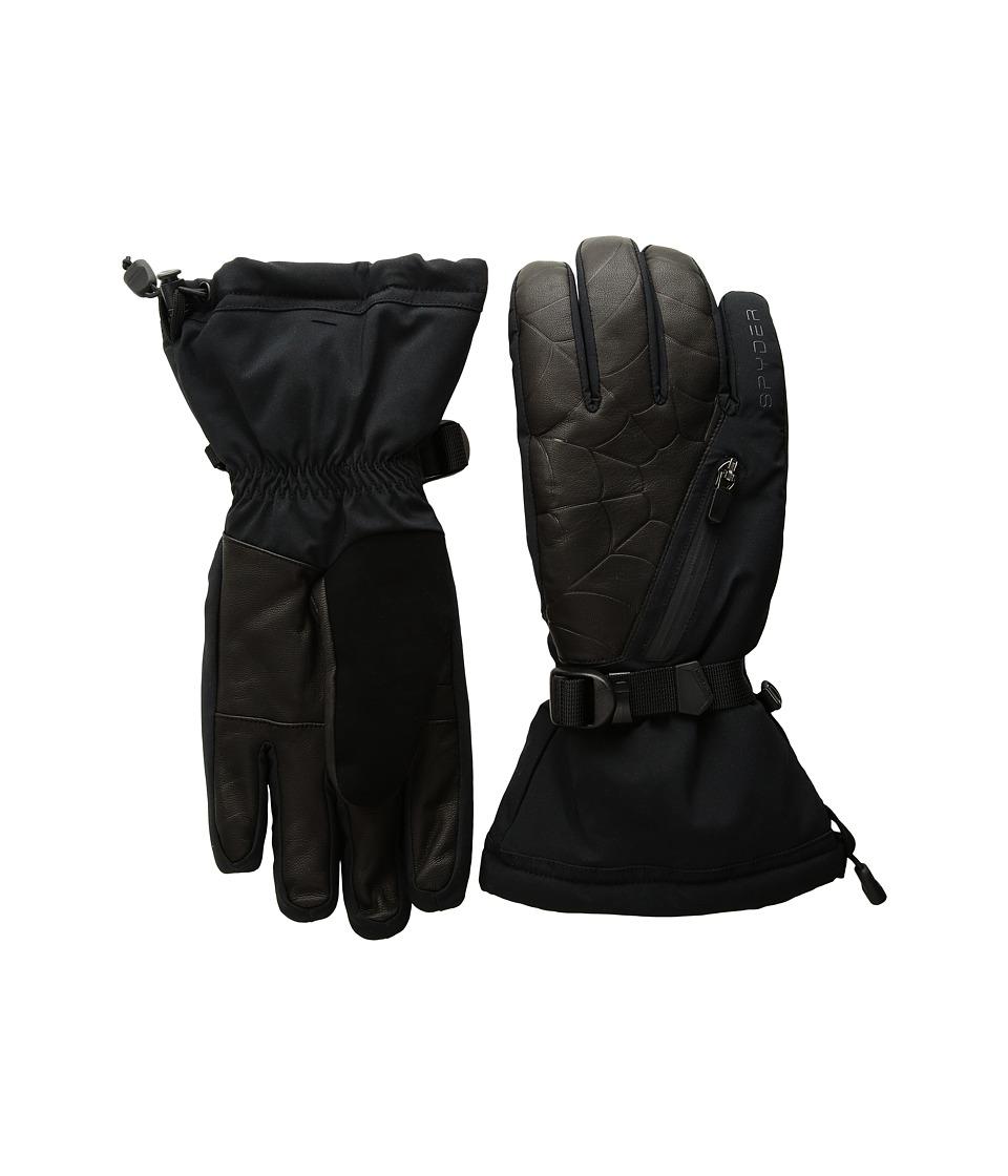 Spyder Omega Ski Gloves (Black/Black) Ski Gloves