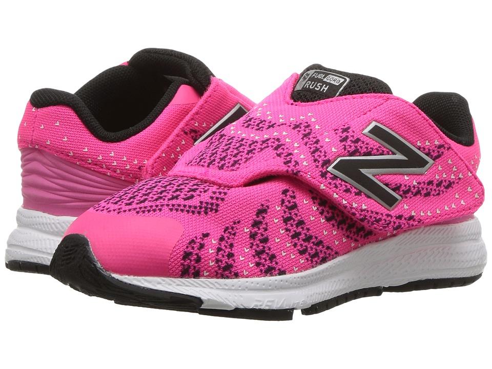 New Balance Kids Rush (Infant/Toddler) (Pink/Black) Girls Shoes
