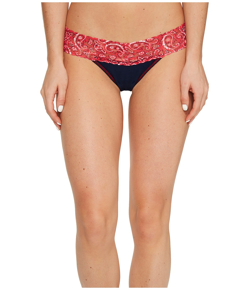 Hanky Panky Cotton with a Conscience Low Rise Thong (Navy...