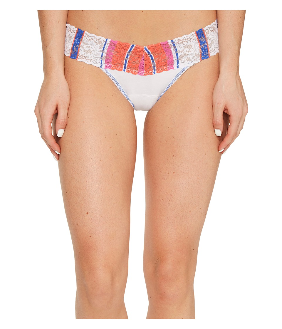 Hanky Panky Cotton with a Conscience Low Rise Thong (Whit...
