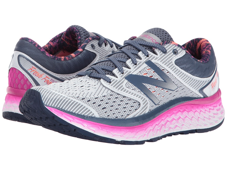 New Balance Fresh Foam 1080v7 (Arctic Fox/Poisonberry/Vivid Tangerine) Women