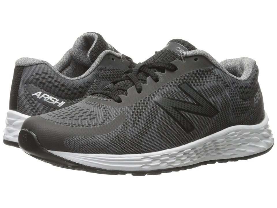 New Balance Kids Arishi (Little Kid/Big Kid) (Grey/Black) Boys Shoes