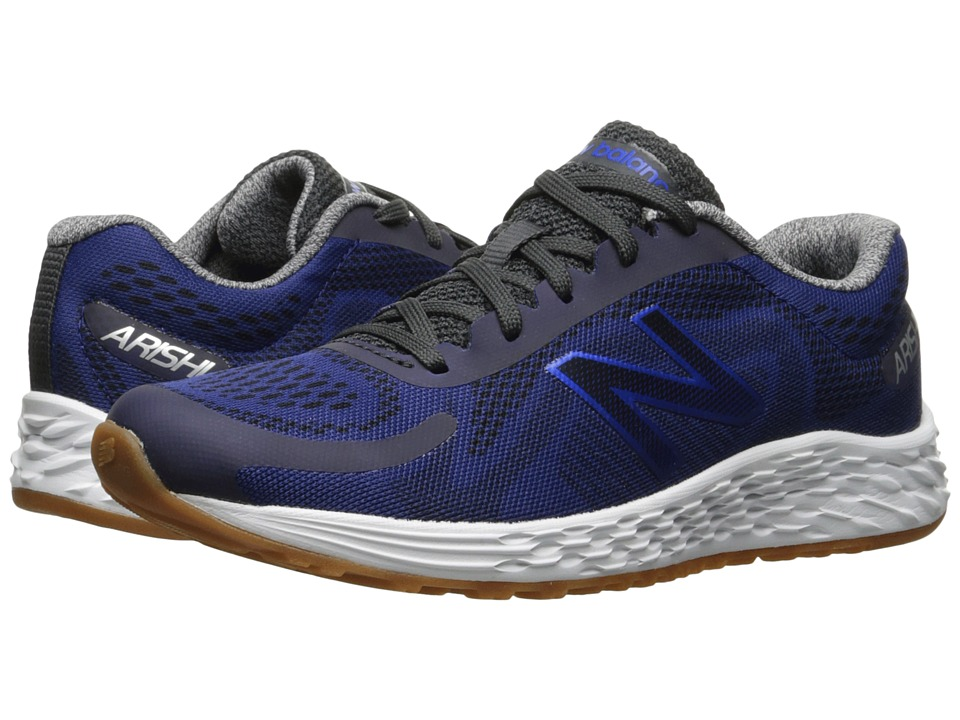 New Balance Kids Arishi (Little Kid/Big Kid) (Black/Blue) Boys Shoes