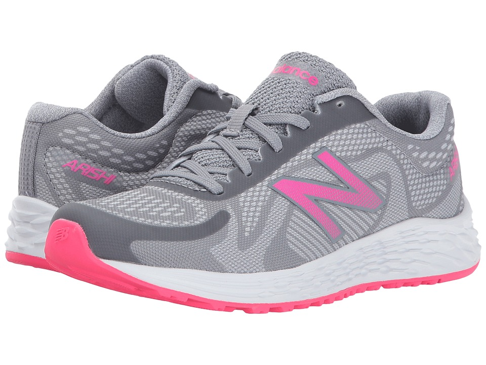 New Balance Kids Arishi (Little Kid/Big Kid) (Grey/Pink) Girls Shoes