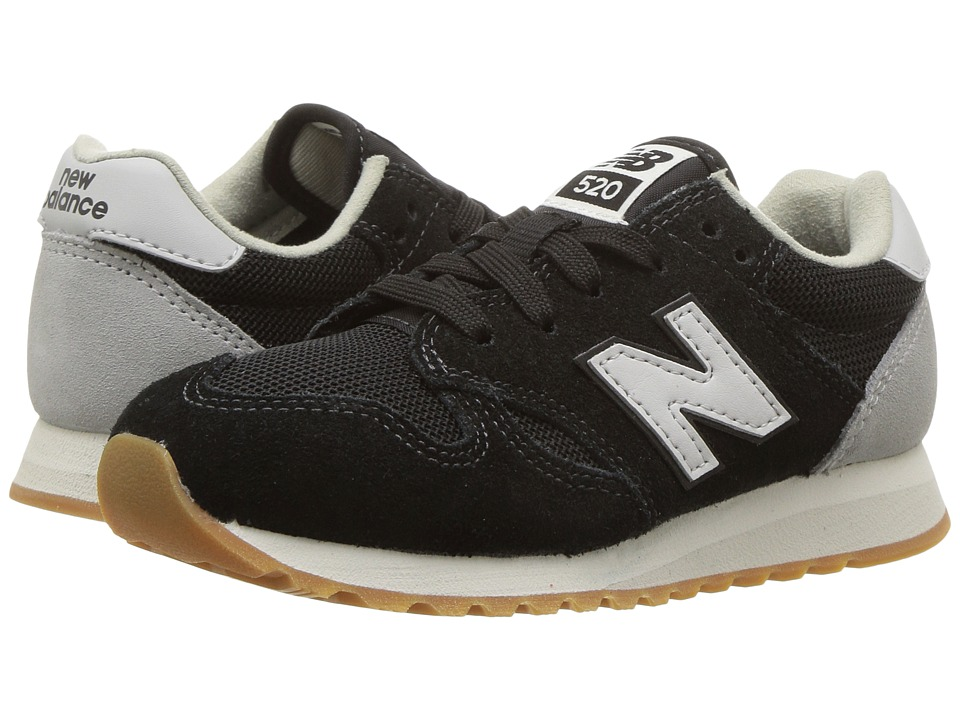 New Balance Kids KL520v1 (Little Kid/Big Kid) (Black/White) Boys Shoes