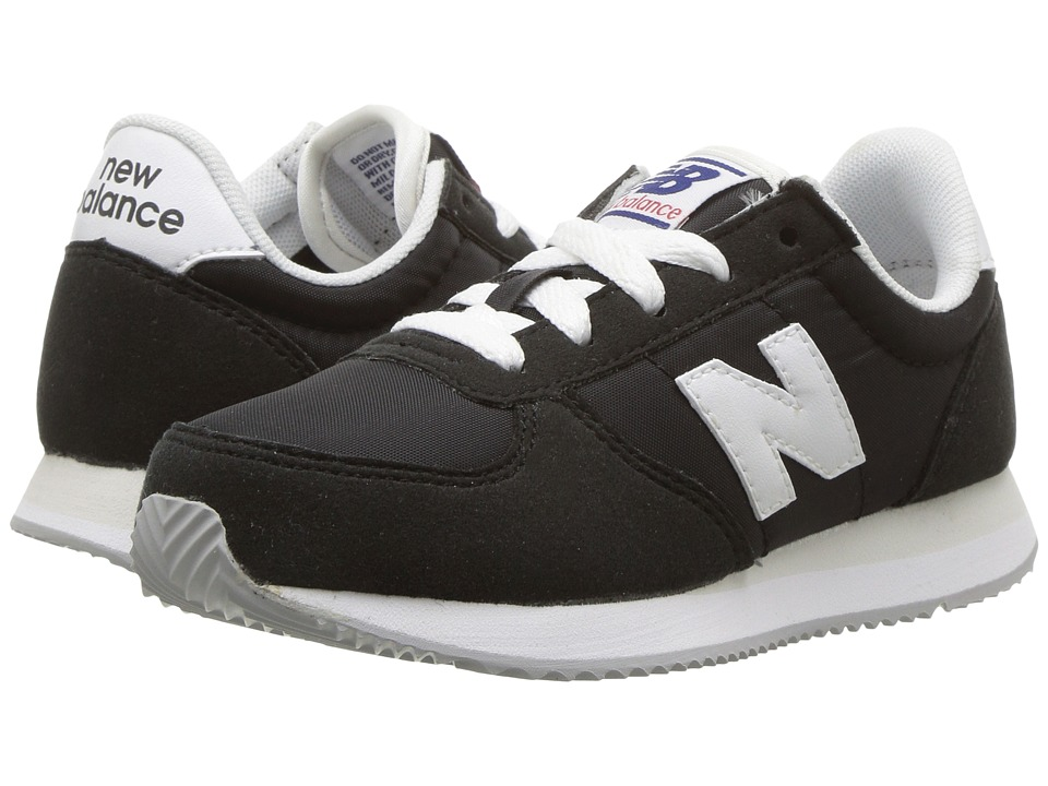 New Balance Kids KL220v1 (Little Kid/Big Kid) (Black/White) Boys Shoes