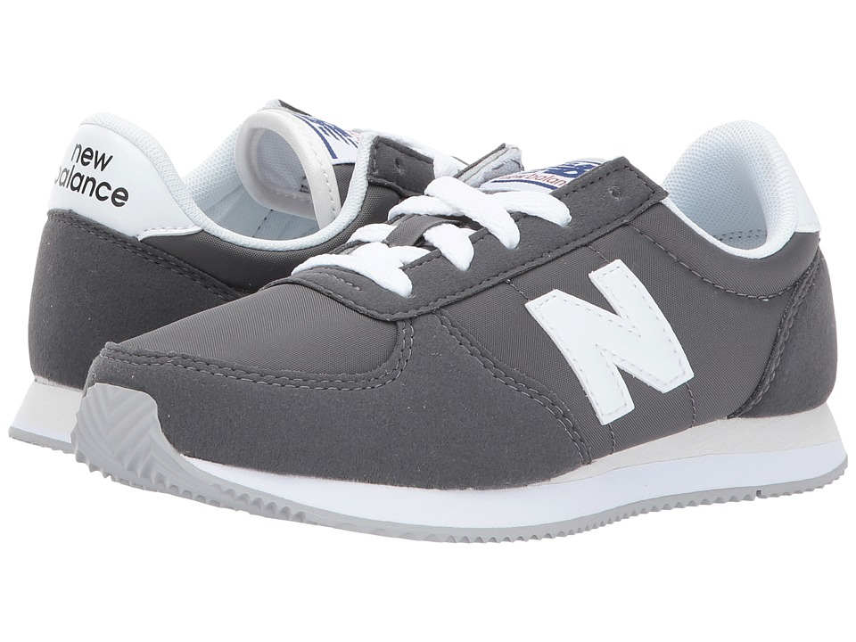 New Balance Kids KL220v1 (Little Kid/Big Kid) (Grey/White) Boys Shoes