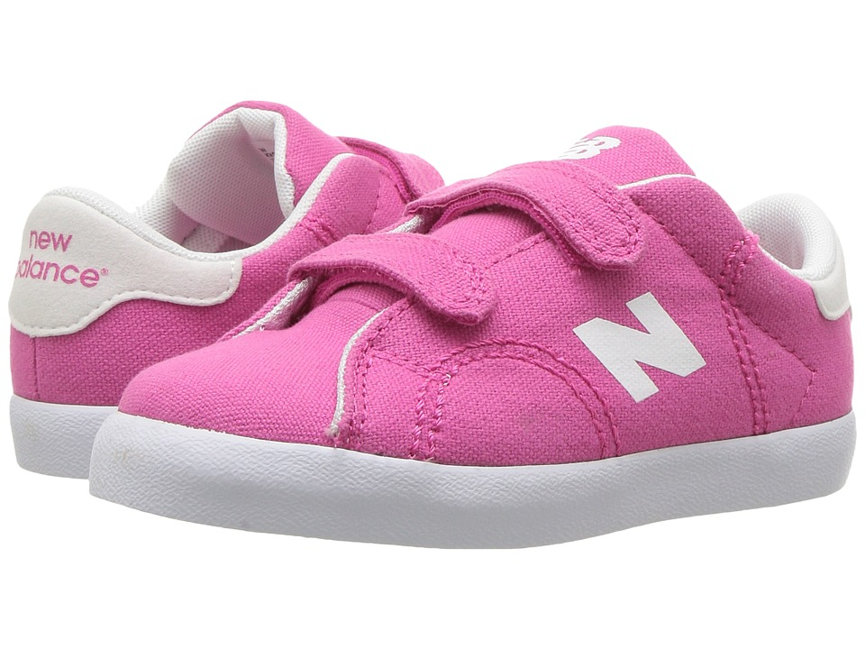 New Balance Kids Pro Court (Infant/Toddler) (Pink/White) Girls Shoes